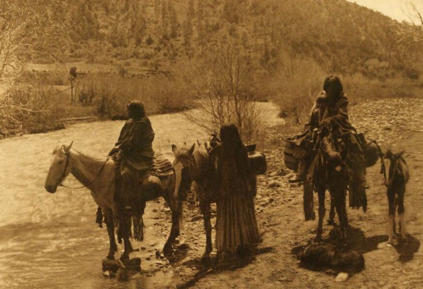 American Indians : At The Ford - Apache.