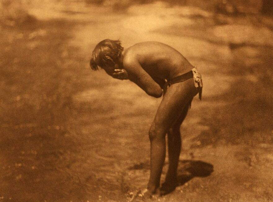 American Indians : Morning Bath - Apache.