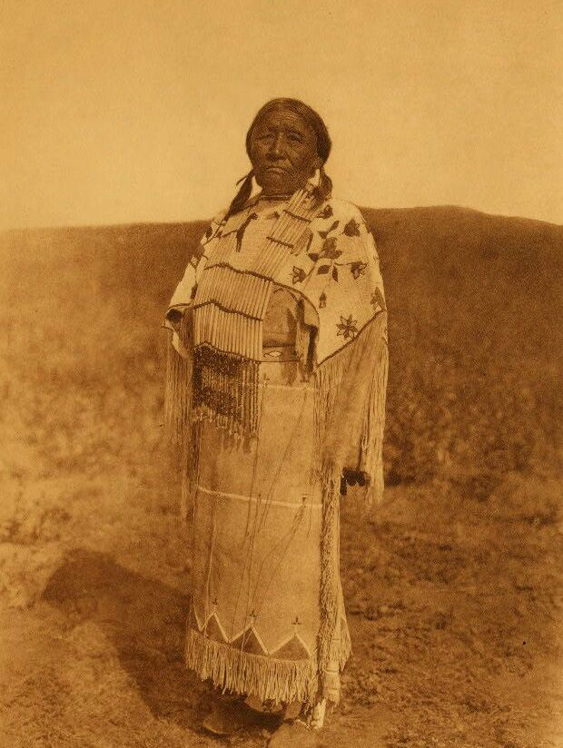 American Indians : Cheyenne Womans Costume.