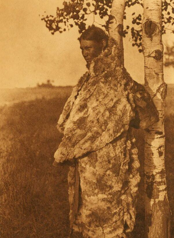 Cree Woman with Fur Robe.