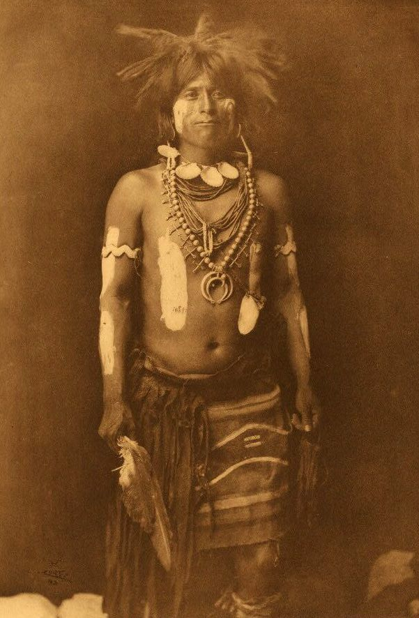 American Indians : Snake Dancer in Costume.
