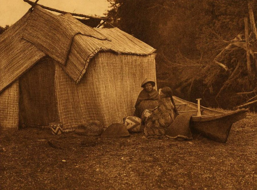 A Photograph of a Mat Shelter [Skokomish].