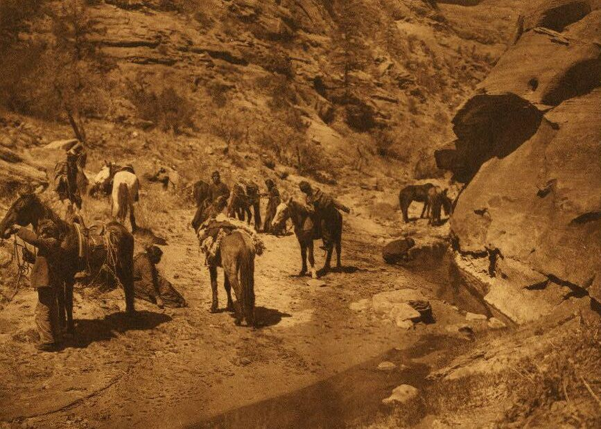 A Photograph of a Noon-Day Halt [Navaho].