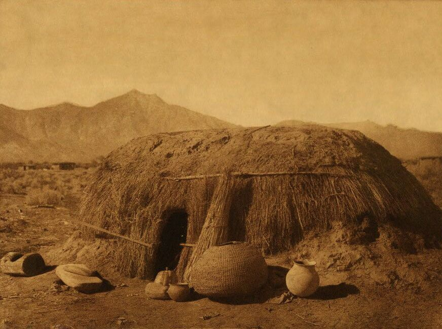 Photograph of A Pima Home.