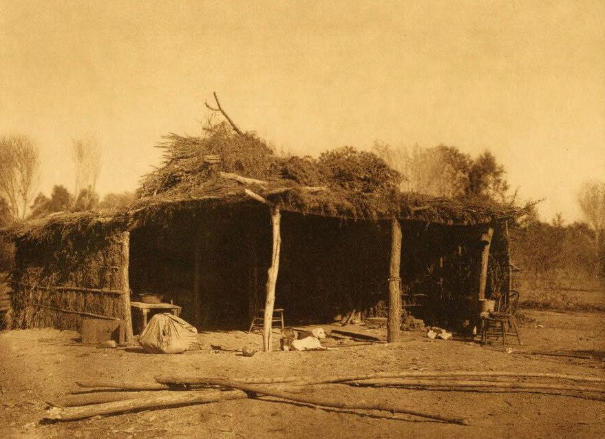 A Photograph of A Yuma Indian's Home.