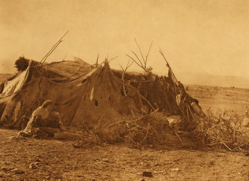 A Photograph of An Achomawi Summer Hut.