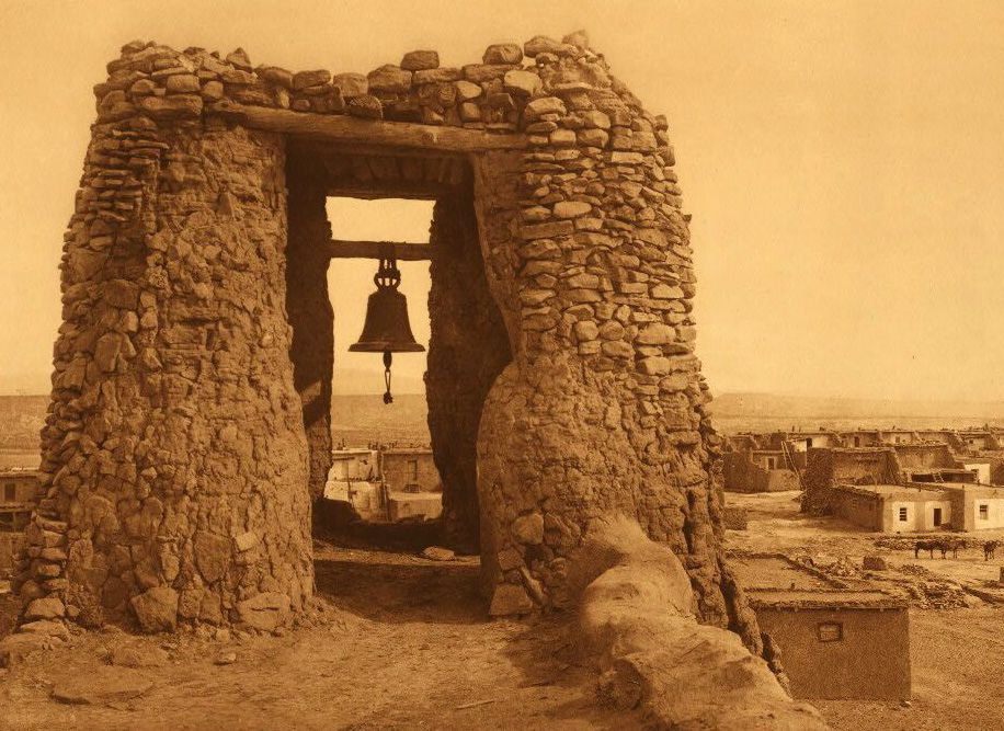 A Photograph of An Acoma Belfry.