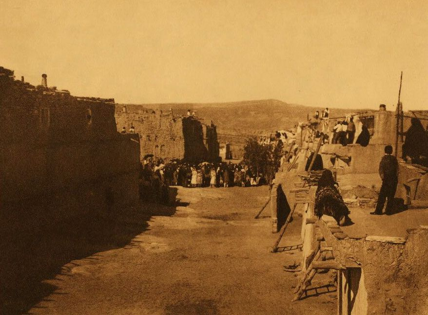 A Photograph of Acoma Indians Depositing San Estevan in The Booth.
