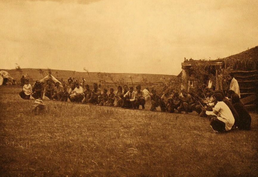 Photograph of Arikara Corn Ceremony Bearing Out The Osiers.