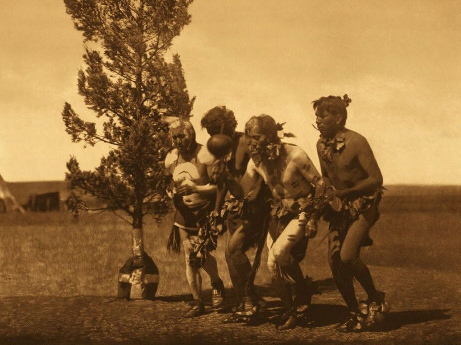 Photograph of Arikara Medicine Ceremony Dance of The Black Tail Deer.
