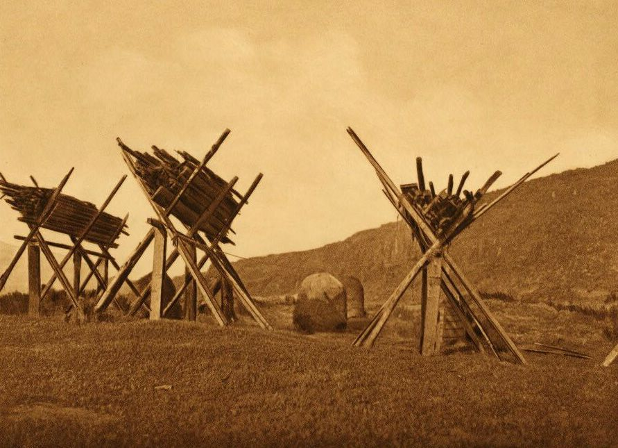 A Photograph of Caches at Celilo.