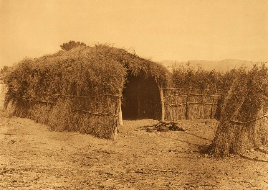 A Photograph of A Cahuilla House in The Desert [A].