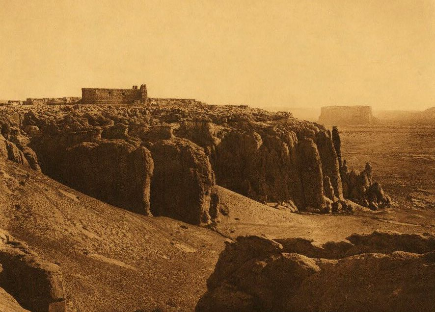 A Photograph of a Cliff Perched Acoma.