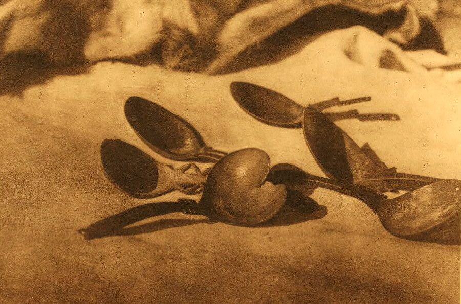 A Photograph of Elk Horn Spoons [Tolowa].