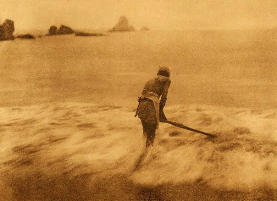 A Photograph of Fishing For Smelt in The Surf [Trinidad Yurok].