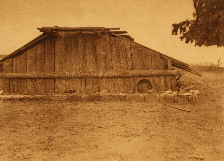 A Photograph of a Hupa House.