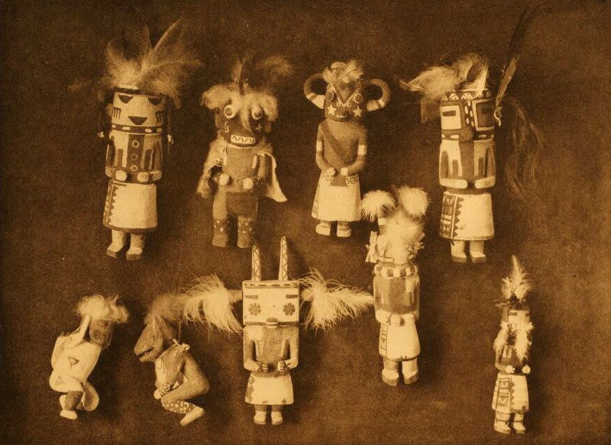 A Photograph of Kachina Dolls.