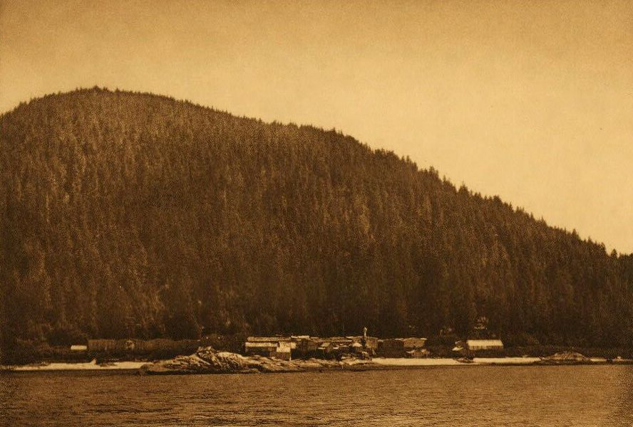 A Photograph of Kwaustums Village [Gilford Island].