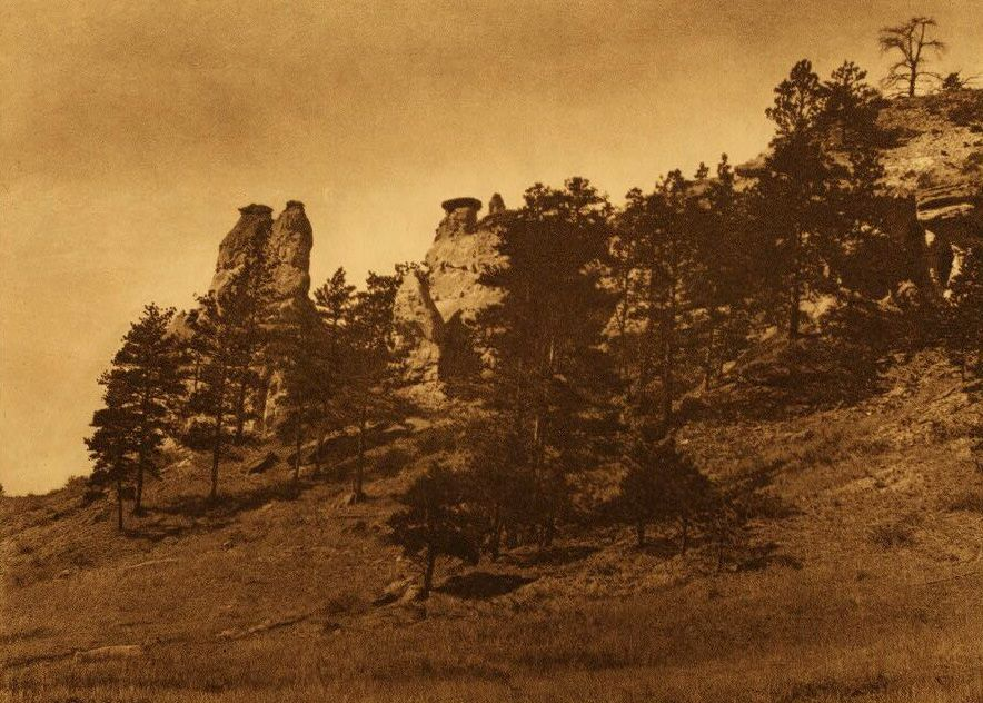 A Photograph of Lame Deer Monuments [Cheyenne].