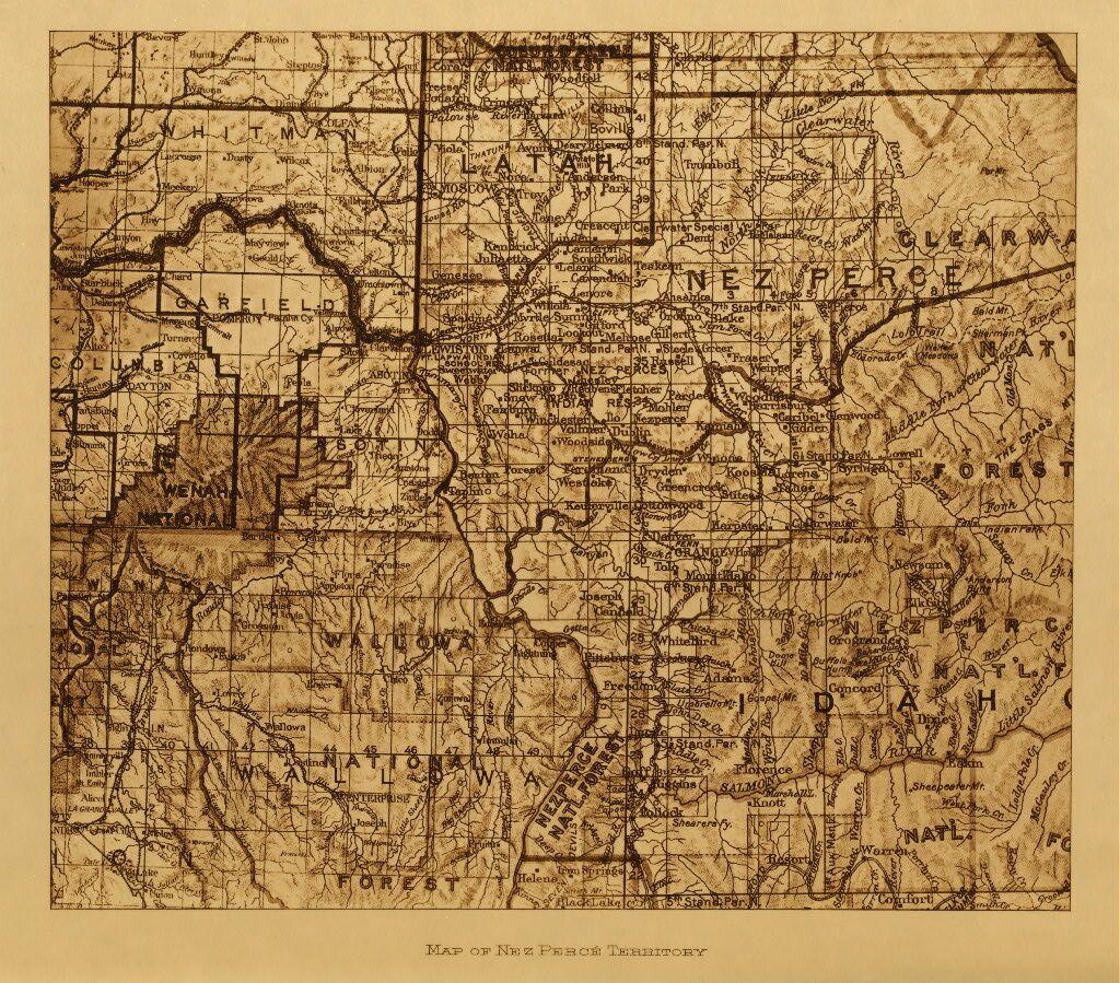 Map Of The Nez Perce Territory