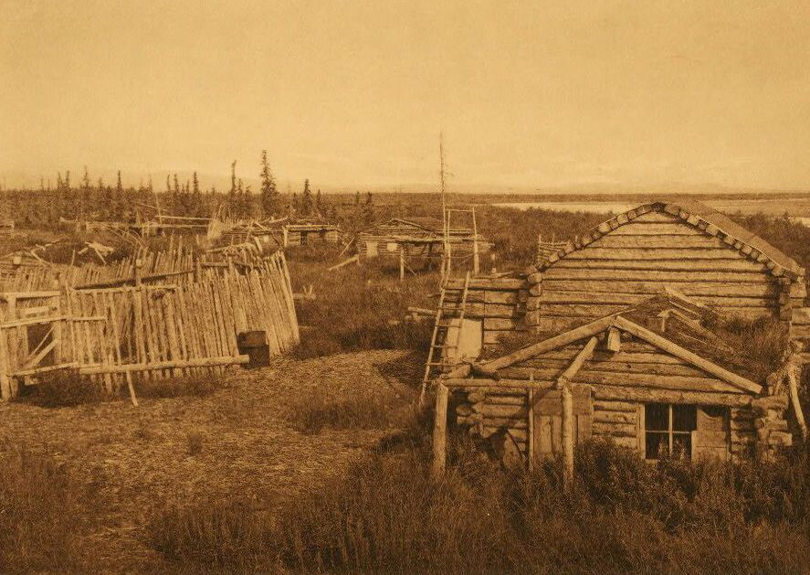 A Photograph of A Noatak Village.