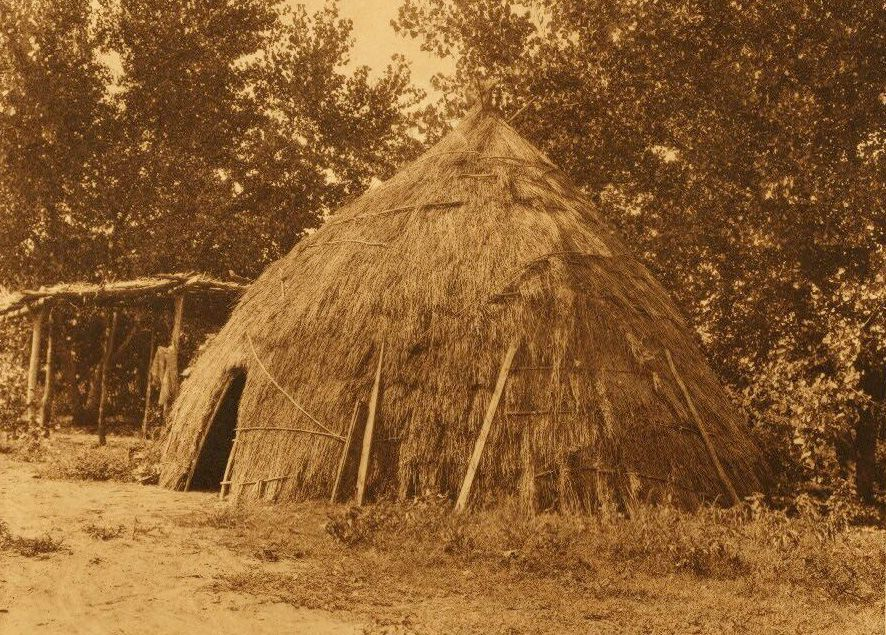 A Photograph of An Old Wichita Grass House.