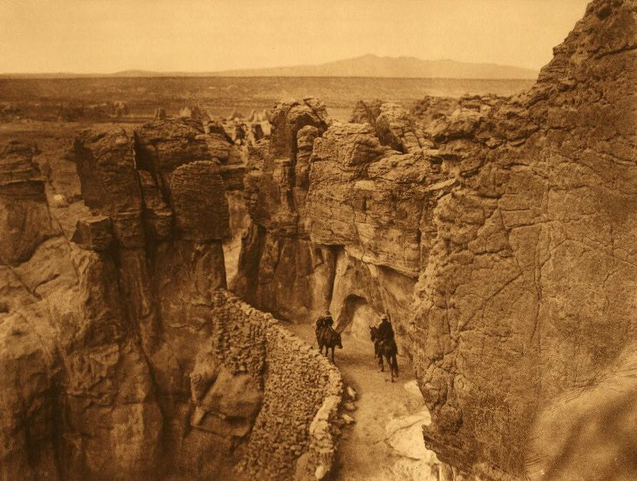A Photograph of an Old Trail at Acoma.