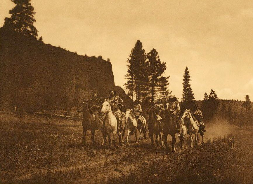 A Photograph of Spokan Indians on The Move.