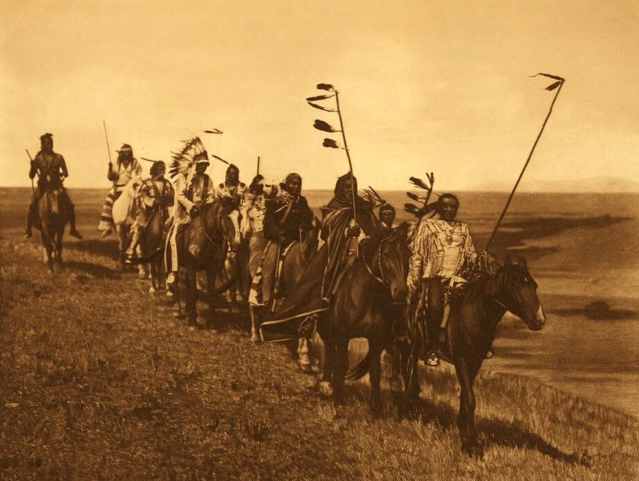 Atsina Indians On The War Path.
