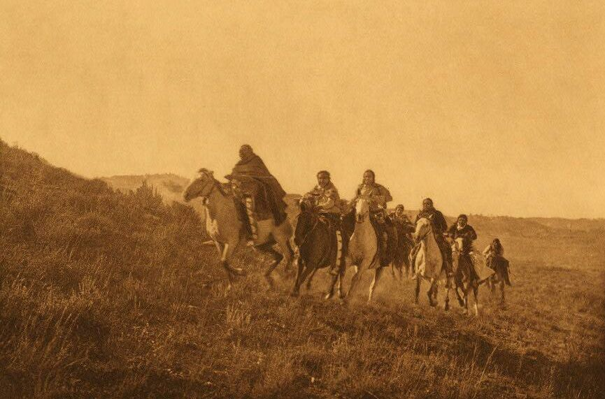A Photograph of the Return of Cheyenne Scouts.