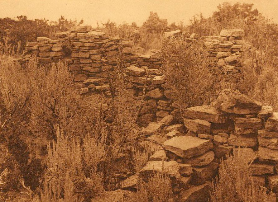 A Photograph of the Zuni Ruins on Corn Mountain.