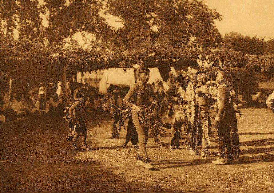A Photograph of Skidi and Wichita Dancers.
