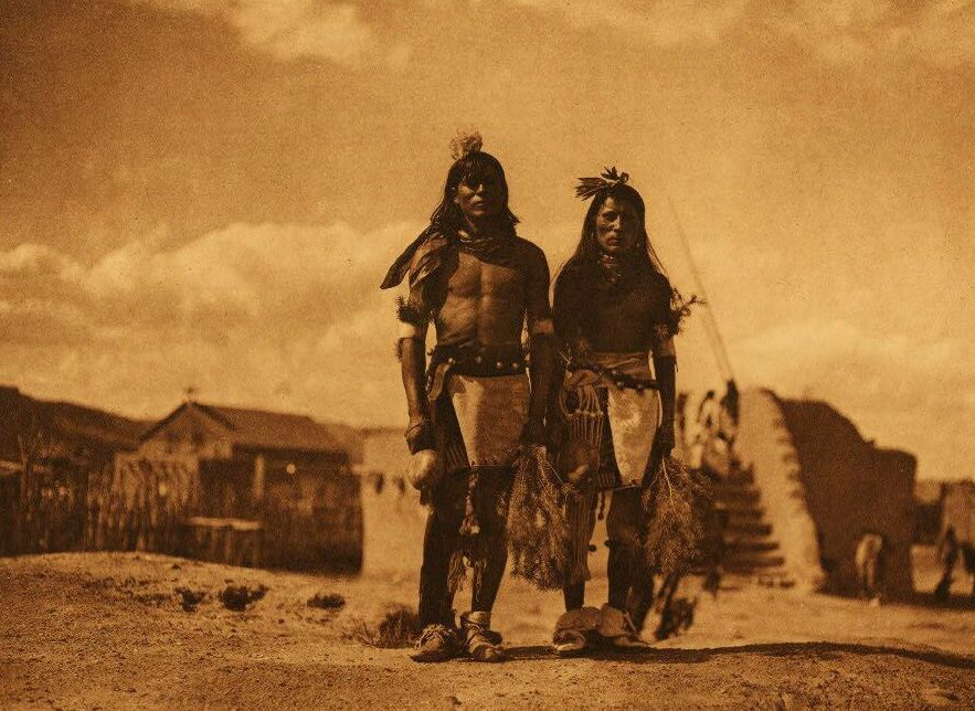 A Photograph of Tablita Dancers [San Ildefonso].