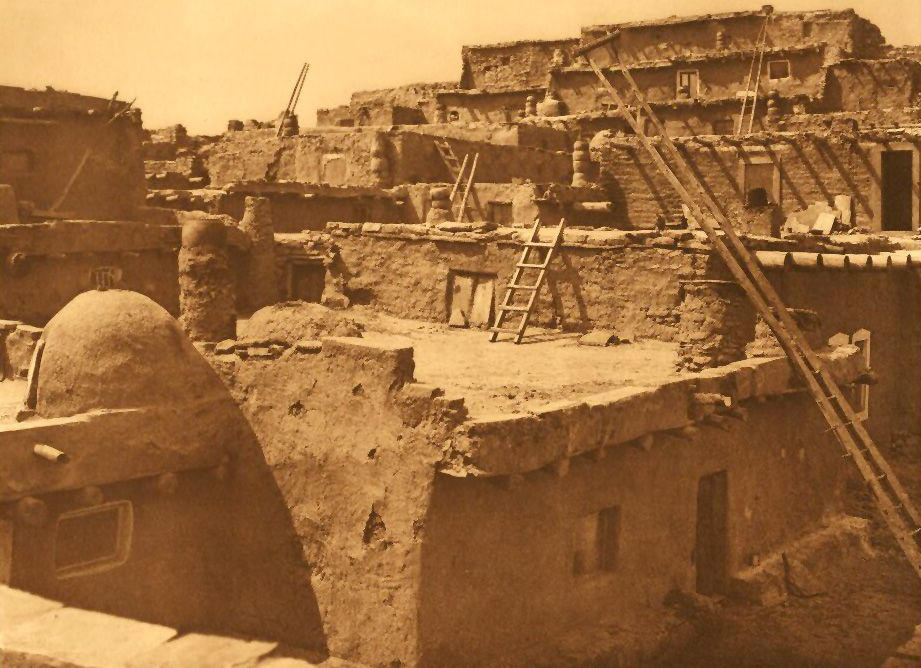A Photograph of Terraced Houses of Zuni.
