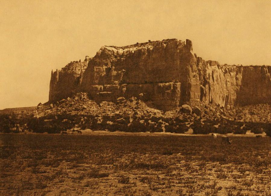 A Photograph of The Enchanted Mesa.