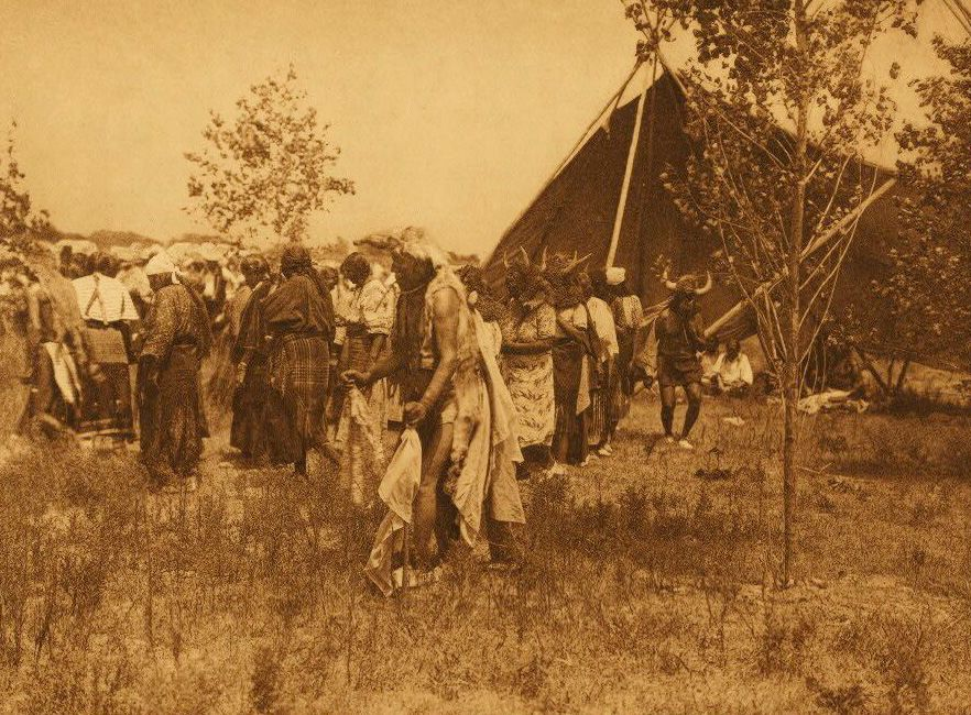 A Photograph of The Wolf Animal Dance [Cheyenne].