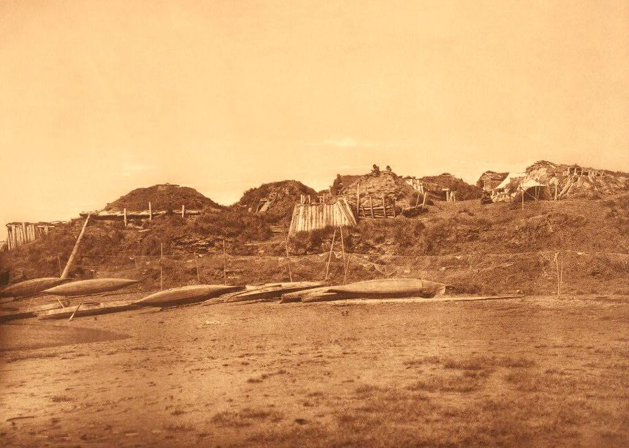 A Photograph of A Village at Hooper Bay.