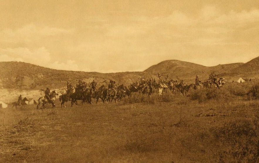 A Photograph of a Warrior Society Encircling Camp [Cheyenne].