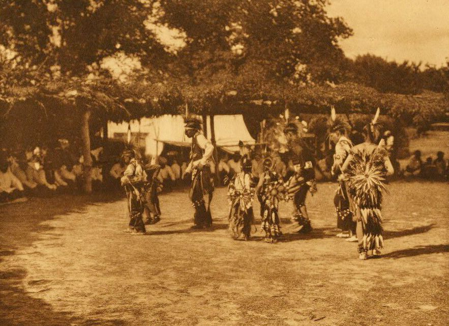 A Photograph of Wichita Dancers.