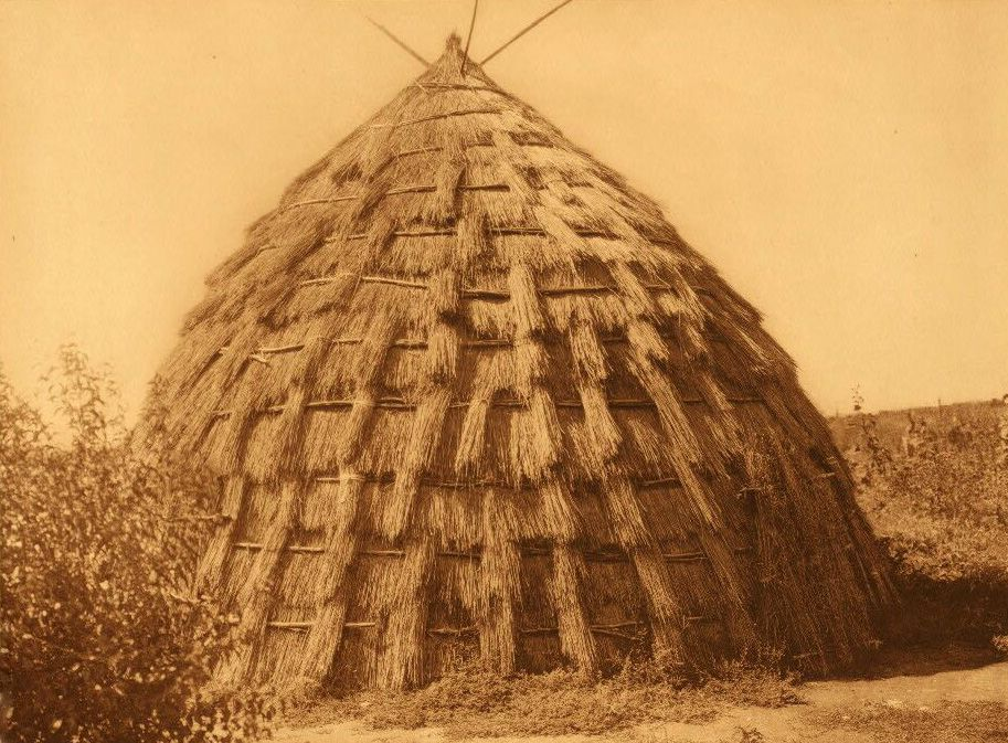 A Photograph of a Wichita Grass House.