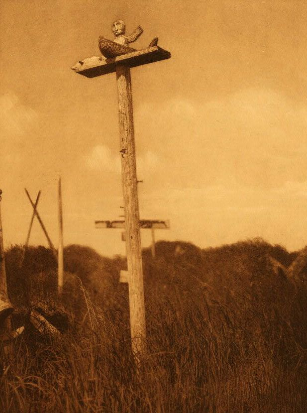 A Photograph of A Grave Post [Hooper Bay].