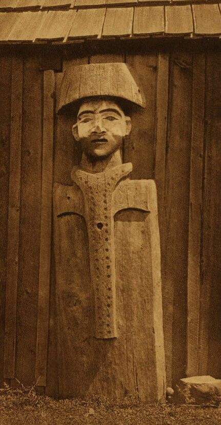 A Photograph of a Carved Figure [Cowichan].