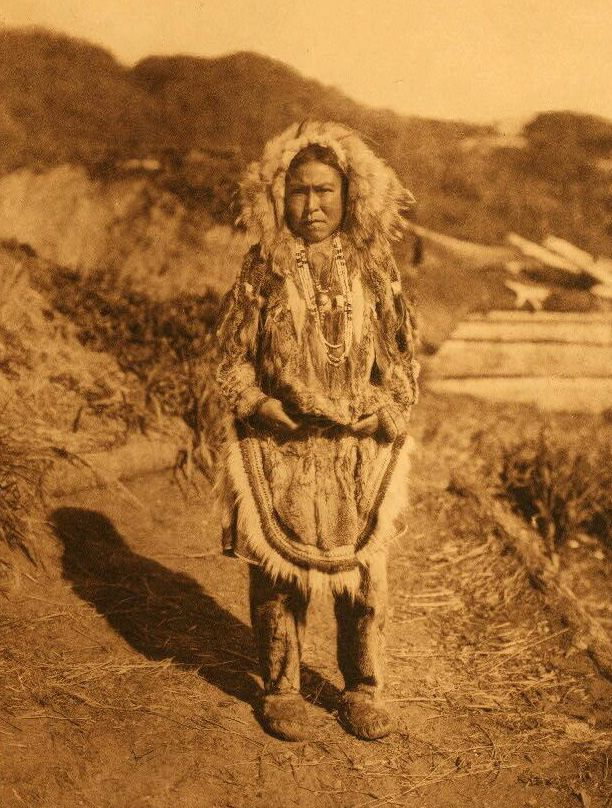 A Photograph of A Girls Costume [Nunivak].