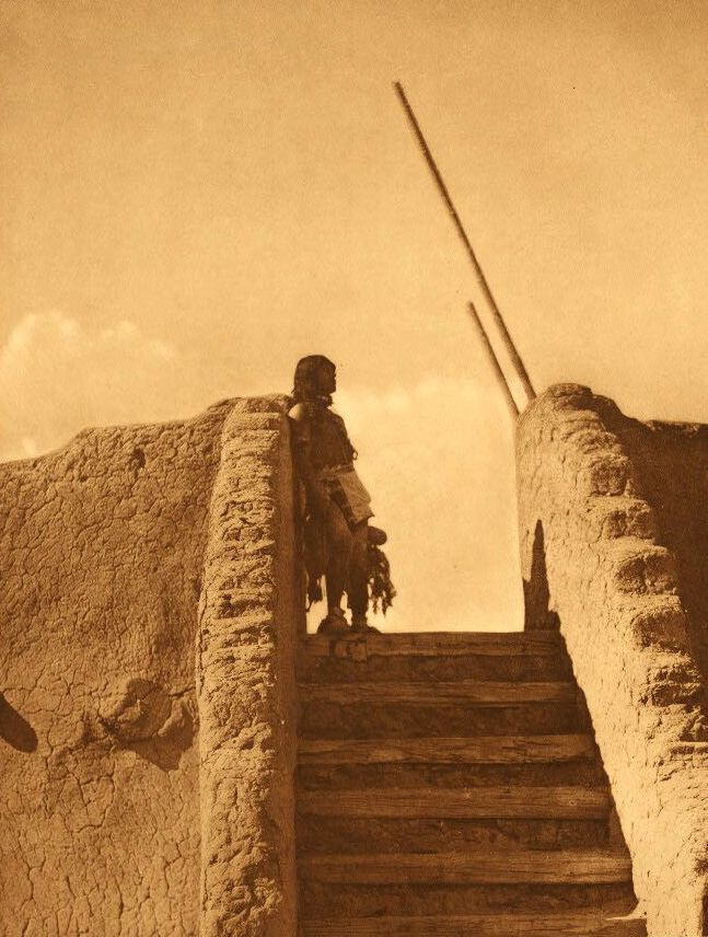 A Photograph of Kiva Stairs [San Ildefonso].