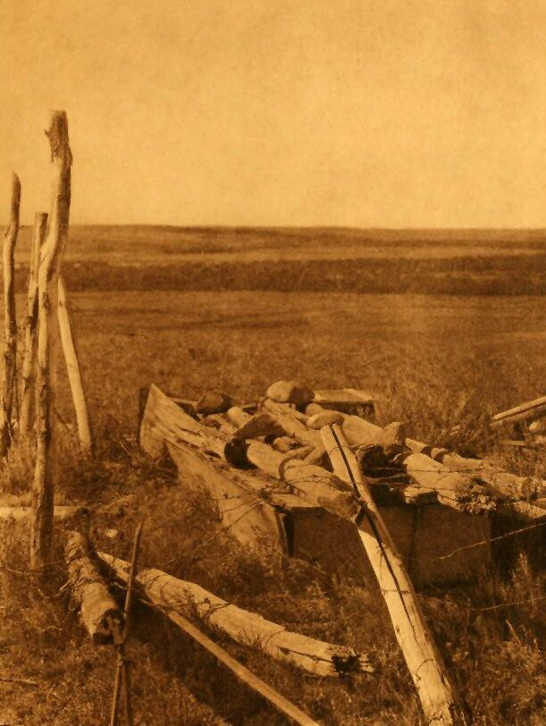 A Photograph of a Modern Blackfoot Burial.