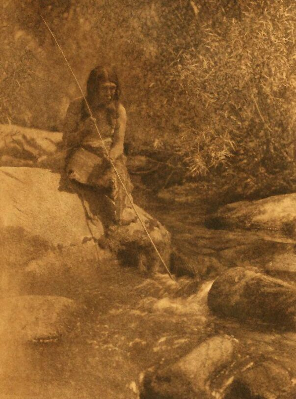 A Photograph of an American Indian On The Merced [Southern Miwok].