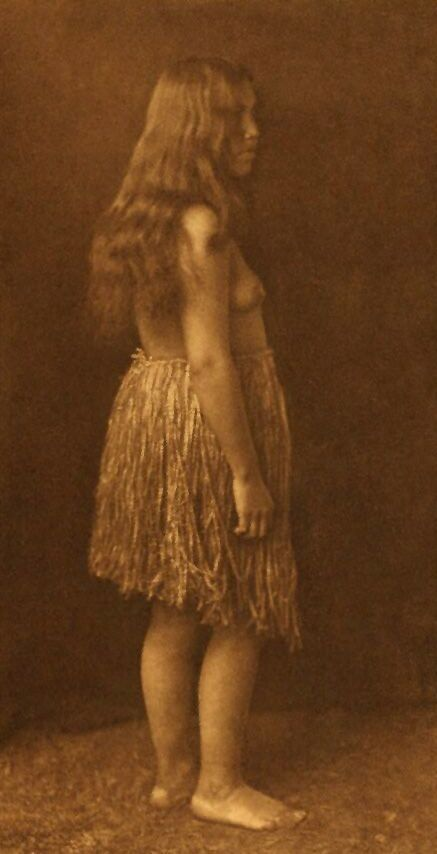 A Photograph of A Primitive Quinault Dress.