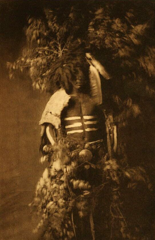 A Photograph of Indians Ready For Okipe Buffalo Dance [Mandan].