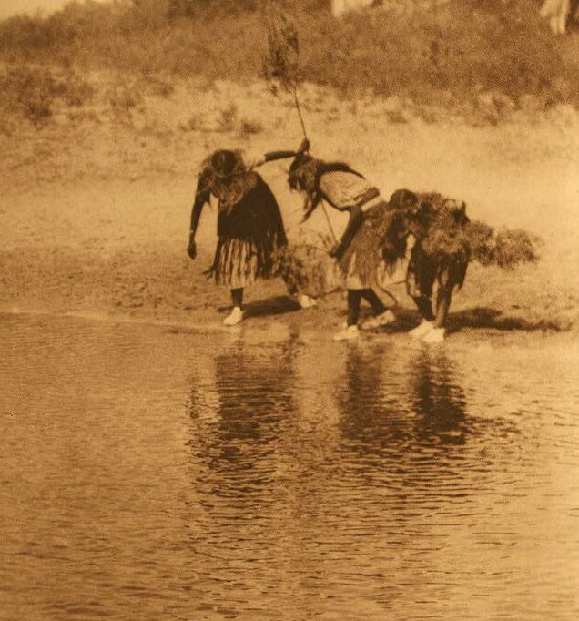 A Photograph of the Water Rite Purification - Cheyenne Animal Dance.