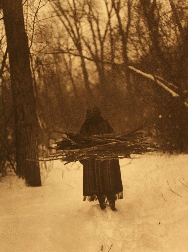 A photograph of A Sioux Indian Wood Gatherer.